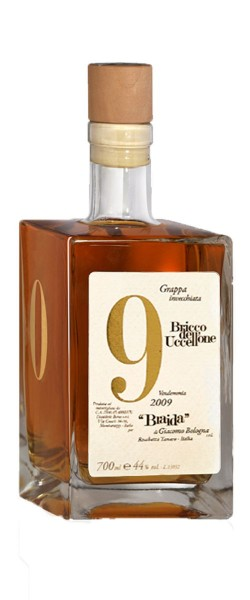 Aged Grappa Made from Bricco Dell' Uccellone